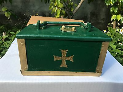 Rare Miniature German Armada Money War Pirate Chest Circa 1640 From Cathedral!!!