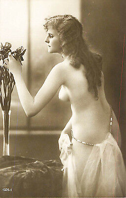 FRENCH REAL PHOTO NUDE, RPPC, FRANCE, VINTAGE POSTCARD, Series #1005-1