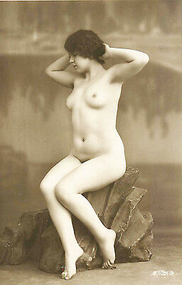 FRENCH REAL PHOTO NUDE, RPPC, FRANCE, VINTAGE POSTCARD, Series #1021-3