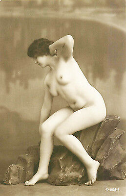 FRENCH REAL PHOTO NUDE, RPPC, FRANCE, VINTAGE POSTCARD, Series #1021-4