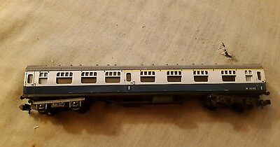 A model railway 1st class coach in N gauge by unknown make unboxed