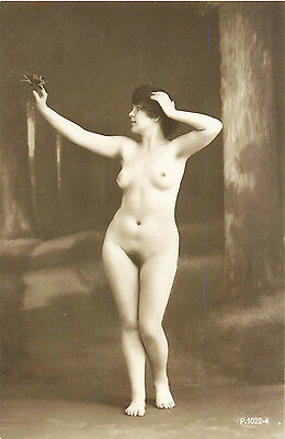 FRENCH REAL PHOTO NUDE, RPPC, FRANCE, VINTAGE POSTCARD, Series #1022-4