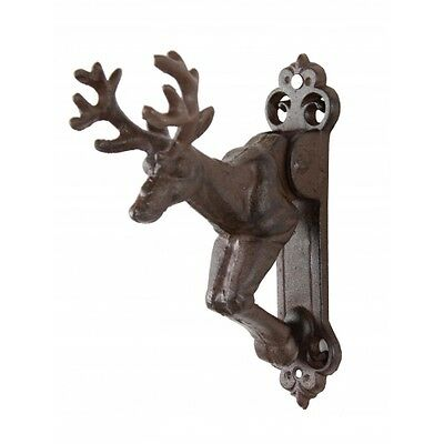 Awesome  Cast Iron  Deer Door Knocker,antique Brown Finish,6.5'' X 8''h.