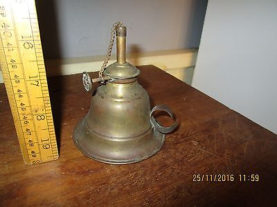 Antique Brass Solder Lamp -Hand held Brass oil lamp with wick advance for solder