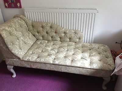 Stunning Chaise Longue - Newly Upholstered In A Beautiful Classy Material