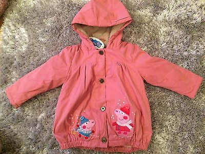 Peppa Pig Next Lined Coat 2-3 Years