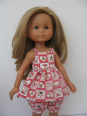 """Clothes for Corolle les Cheries,Paola Reina Handmade Outfit~13"""" Doll Top, Pants"""