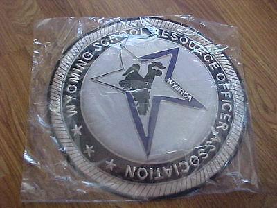 Large Wyoming School Resource Officers Association Entry Way Sign Plaque