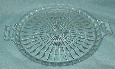 Jeannette Windsor  Diamond Clear Serving Plate with Handles