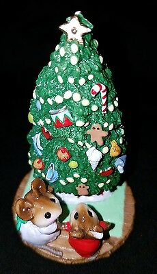Wee Forest Folk Christmas 1985 Under the Chris-Mouse Tree M-123 Signed Retired