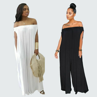 US Womens Deep V Neck Belt Party Jumpsuit Romper Long Trousers Pants Office Slim