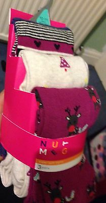 Bundle Of Girls Colourful Tights Size 10/11 New