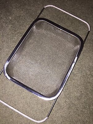 Over Sink Strainer Stainless Steel Large Sieve Colander Drainer Expandable Mesh