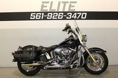 2015 Harley-Davidson Softail  2015 Harley FLSTC Heritage Softail Classic Low Miles Exhaust Black 103 ABS