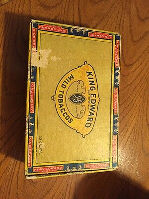King Edward Vii Imperial Mild Tobaccos Vintage 7 Cent Cigar Box Swisher & Co