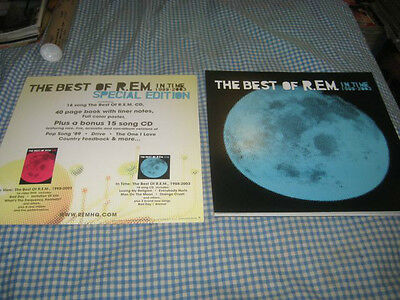 R.E.M.-(the best of-in time-1988-2003)-1 POSTER FLAT-2 SIDED-12X12-NMINT-RARE