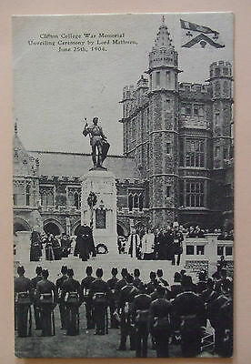 Postcard POSTED 1904 UNVEILING WAR MEMORIAL CLIFTON COLLEGE CLIFTON BRISTOL