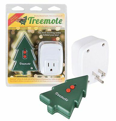 Treemote - Wireless Remote Switch for Christmas Tree and Other Lights