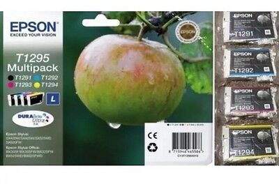 Genuine Epson T1295 Multipack 2019 Ink Cartridges - NEW, Original Apple