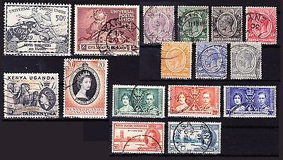 British KUT high value used collection 1922 - 1954 FU to 5/- Sh, 4 scans