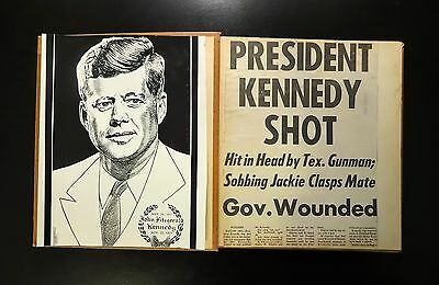 JFK ASSASSINATION Scrapbook, 1963 AP Wire, UPI Telephotos, Clippings