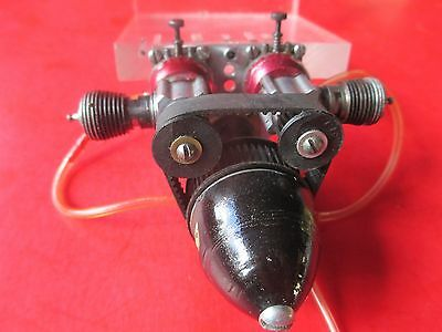 Vintage Rare Cox Pee Wee Twin Engine Assembly