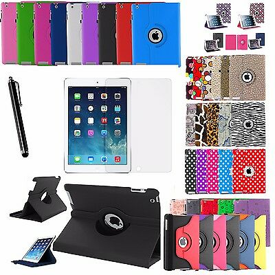 """360 Rotating Premium Leather Case Smart Cover Stand For iPad Air 1, Air 2 9.7"""""""