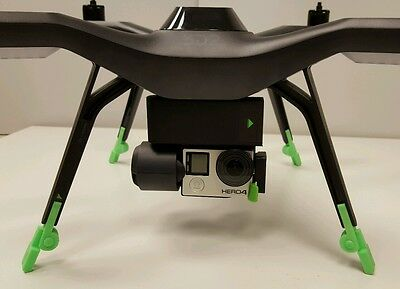 3DR SOLO Folding Leg Extension GREEN Increased Clearance for 3-Axis Gimbal