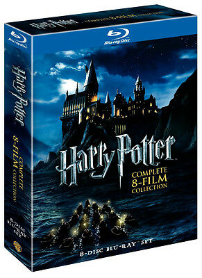 HARRY POTTER BLU RAY 8 FILM COLLECTION COMPLETE SERIES 8 DISC SET Gift Xmas NEW