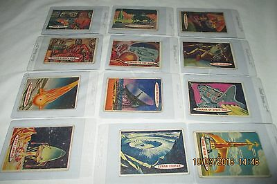 1957 Topps Space Cards Lot of 12