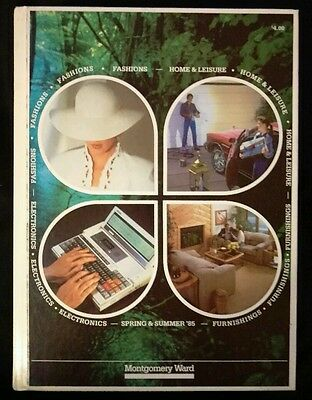 HARD COVER 1985 Montgomery Ward Spring and Summer Catalog