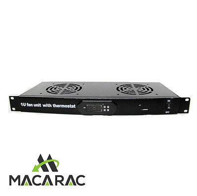 """THERMOSTAT COOLING PANEL (1RU 2 x 240vAC Fan / 19"""" Inch Rack-Mount Application)"""