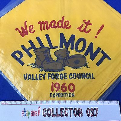 Boy Scout Neckerchief 1960 Valley Forge Council Philmont Expedition We Made It