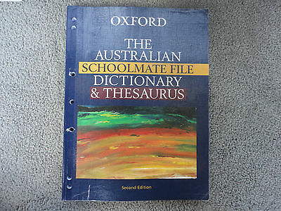 Oxford Australian Schoolmate File Dictionary and Thesaurus 2nd Edition