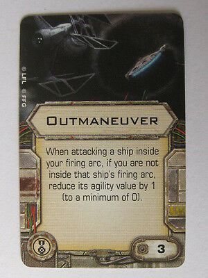 X-Wing Upgrade Card - Outmaneuver