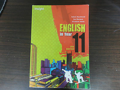Insight English in Year 11 2nd Edition