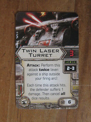X-Wing Upgrade Card - Twin Laser Turret