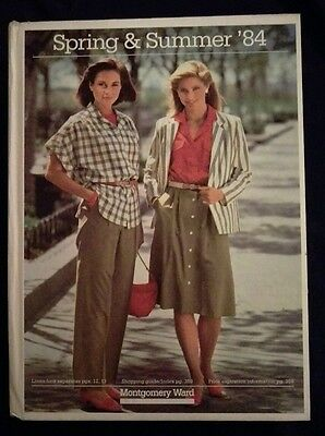 HARD COVER 1984 Montgomery Ward Spring and Summer Catalog