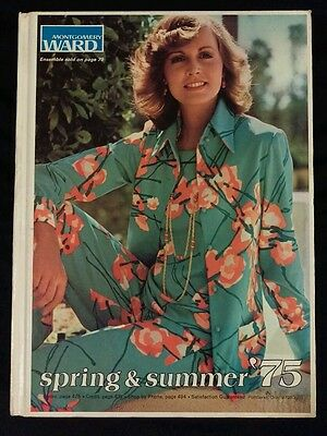 Hard Cover Spring and Summer 1975 Montgomery Ward Catalog