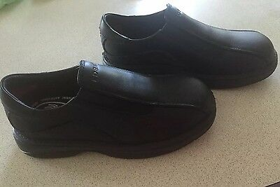 REDBACK Chefs BLACK PULL-ON SHOES.   SIZE 2