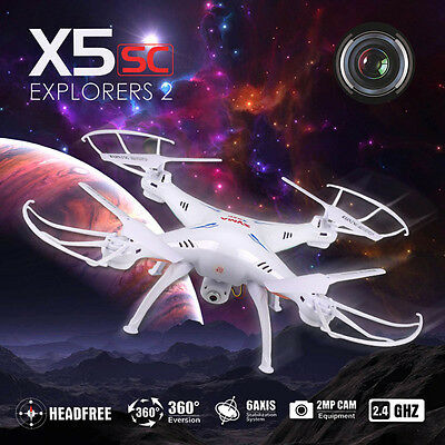 XMAS HD Camera Syma X5SC 2.4Ghz 4GB RC Drone Quadcopter 6 Axis Gyro Helicopter