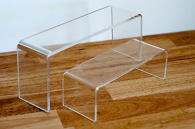 HOT Set of 2 Display Riser 5MM CLEAR Acrylic 7.5cm Wide [ OZ SELLER ] 7510525-2