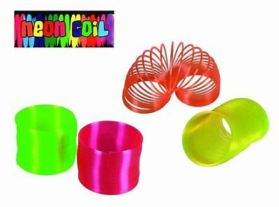Novelty Bright Neon Coloured Plastic Spring Slinky Coil- Re-live Your Childhood