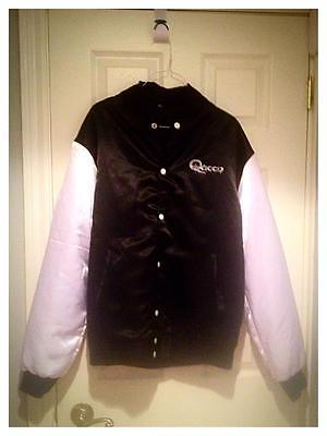 Queen black satin jacket XL and free live cd from their 1977 tour