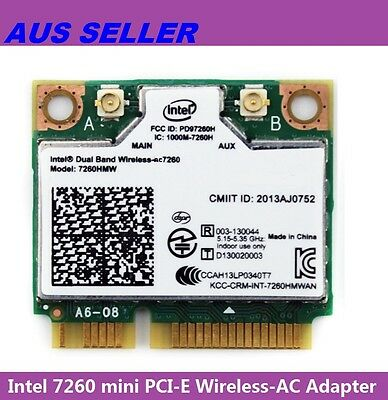 Intel 7260.HMWWB.R Dual Band Wireless-AC 802.11-AC 867Mbps mini-PCIe Half Card