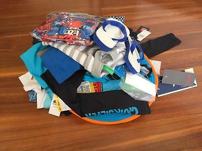 FREE POST Boys All New Bulk Summer Clothes Sz 3, 16 Items Quicksilver,Country