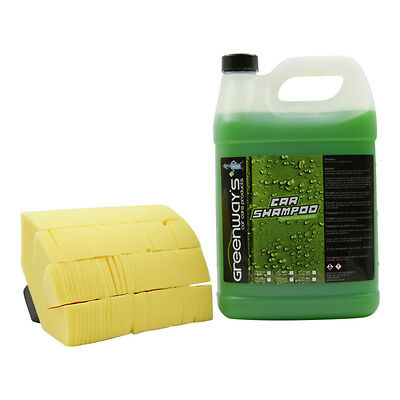 Car wash soap and cleanser ultra high foaming with soft wash mitt swirl free