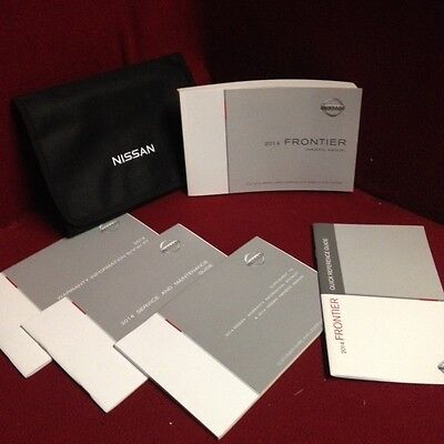 2014 Nissan Sentra Owners Manual with service and warranty guide and case