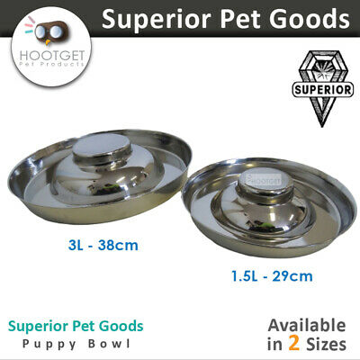 [2 Sizes]Superior Pet Goods Food/Water Puppy Bowl - Pet Dog Feeder Dish Fountain
