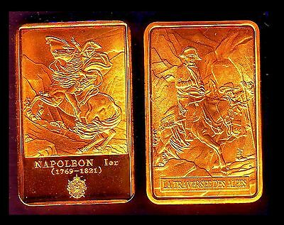 ● Gold Plated Bar ● France ● Napoleon : The Crossing Of The Alps ●●